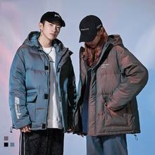 Hip Hop Reflective Parka Men Jacket 2020 Winter Warm Down Coat Thick Outwear Hooded Streetwear Casual Parkas Jackets for Mens
