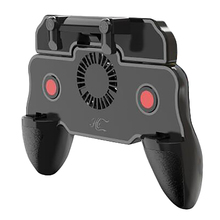 for PUBG Mobile Controller Game Trigger Joystick Auto Mode Fire Button with Cooling Fan L1 R1 Aim