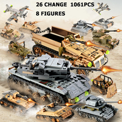 Tank Building Blocks Car Children Missile vehicle Army Military Soldiers building blocks compatible legoINGlys Toys & hobbies