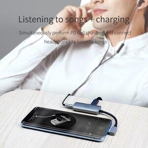 Image 3 - Hagibis Typ C conventer USB C zu 3,5mm Kopfhörer jack Adapter PD schnelle ladung typ c audio für Huawei P30 pro Xiaomi Oneplus