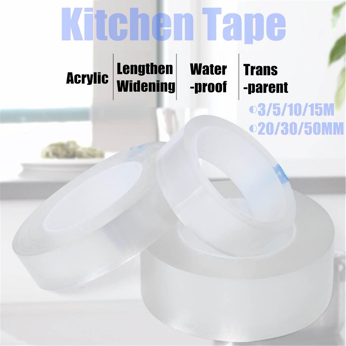 Self Adhesive Kitchen Tape Bathroom Wall Sealing Tape Waterproof Mildew Proof Toilet Wall Corner Line Sink Sealing Stickers