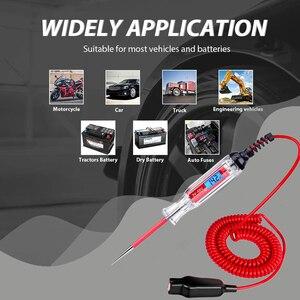 Image 2 - Probador de circuito LCD Digital para coche y camión, herramienta de diagnóstico de 3 48V con cable de 11 pies, bolígrafo de prueba de voltaje y sonda de lámpara