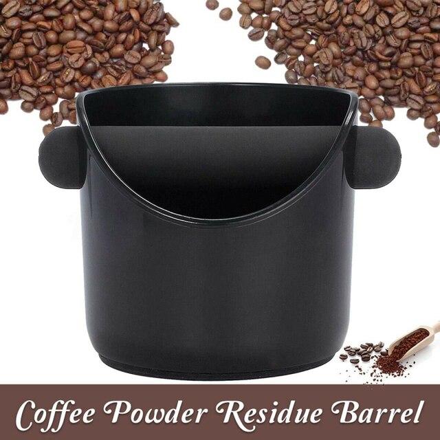 Broyeur à expresso rond frappé boîte ouverte noir café moulu baril boîte tactile Machine à café cuisine café outils