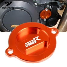 цена на Motorcycle Accessoires CNC Aluminum Refit Engine Oil Filter Cover Cap Engine Tank Covers Oil Cap For KTM 690 Enduro R 2014-2017