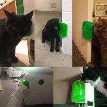 Pet Cats безопасная удобная щетка для самостоятельного ухода за стеной, угловая Массажная расческа для кошек