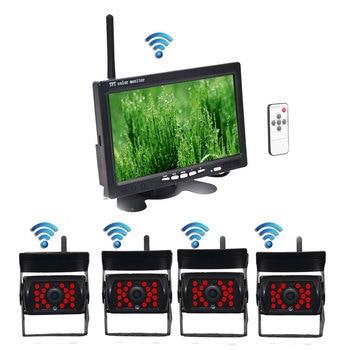 цена на Wireless Reverse Reversing Camera & IR Night Vision 7 Car Monitor for Truck Bus Caravan RV Van Trailer Rear View Camera