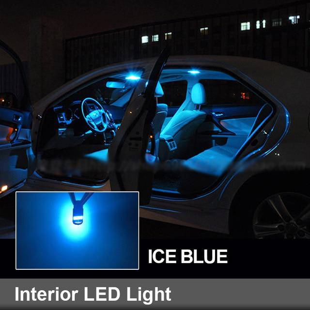 7pcs White Canbus Error Free LED Bulbs Interior Dome Reading Map Lights Kit For Fiat Tipo 2015 2016 2017 2018 Glove Box Light 6
