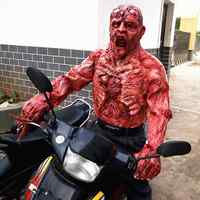 Хэллоуин, ужасная маска зомби-маски вечерние косплей, кровавое противное гнить лицо страшная маска маскарадная тушь для ресниц Террор Маск...