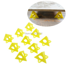 10pcs Set Woodworking Accessories Wood work Tools Painter #8217 s Pyramid Stands Paint Tool Triangle Paint Pads Feet Yellow Carpenter cheap NoEnName_Null S0120 Plastic Wood Working Tool Combination