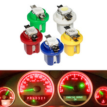 1 Pcs T5 B8.5D 509T B8.5 Smd Led Lamp Car Gauge Speedo Dash Bulb Auto Dashboard Instrument Light Blue Red Green White Yellow
