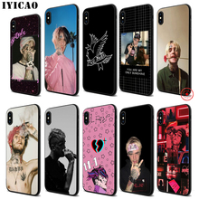 IYICAO Lil Peep Bo Soft Black Silicone Case for iPhone 11 Pro Xr Xs Max X or 10 8 7 6 6S Plus 5 5S SE