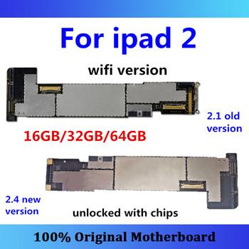 Płyta główna dla iPad 2 wersja WIFI odblokowany darmowy iCloud 2 1 2 4 (EMC 2415 EMC 2560) dla iPad 2 A1395 tablica logiczna 16GB 32GB 64GB tanie i dobre opinie Wewnętrzny Apple iphone for ipad 2 16GB 32GB 64GB Whole Completed Motherboard Used and Good Working Full QC Tested In stock