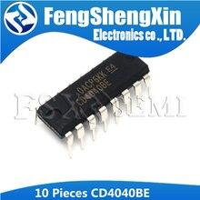 10 ชิ้น/ล็อต CD4040BE DIP 16 CD4040 CD4040BD CMOS Ripple พกพา Binary COUNTER/Dividers