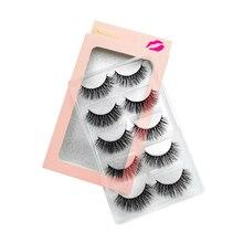 YSDO 5 pairs lashes natural hair 3d mink 15mm eyelashes long handmade makeup make up false
