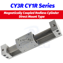 SMC type CY3R15 CY1R20 Magnetically Coupled Rodless Cylinder Direct Mount Type Bore 15 20mm stroke 100 - 500mm Built-in magnet cy1b40 485 smc type rodless cylinder 40mm bore 500mm stroke high pressure cylinder cy1b cy3b series