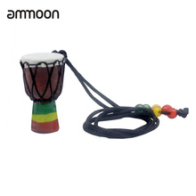 Necklace Percussion-Instrument-Accessories Drum Black-Wire Wood-Color Handmade Dejembe