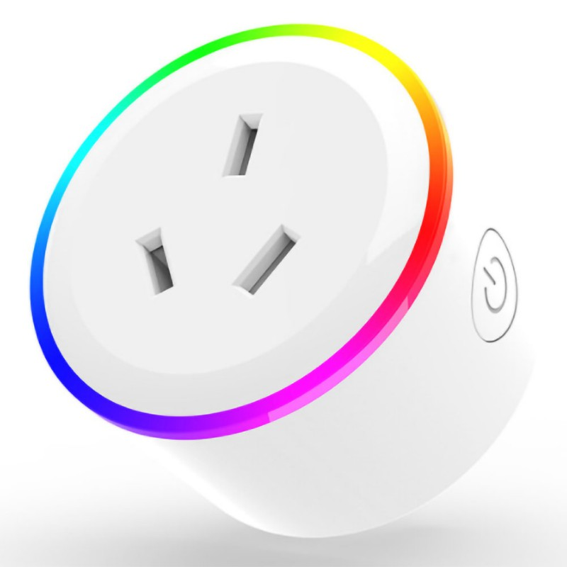 Smart WiFi Socket RGB Colorful LED Smartphone Remote Control Charging Wall Adapter For IOs Androidhw US/EU/UK/AU/JP Standar Plug