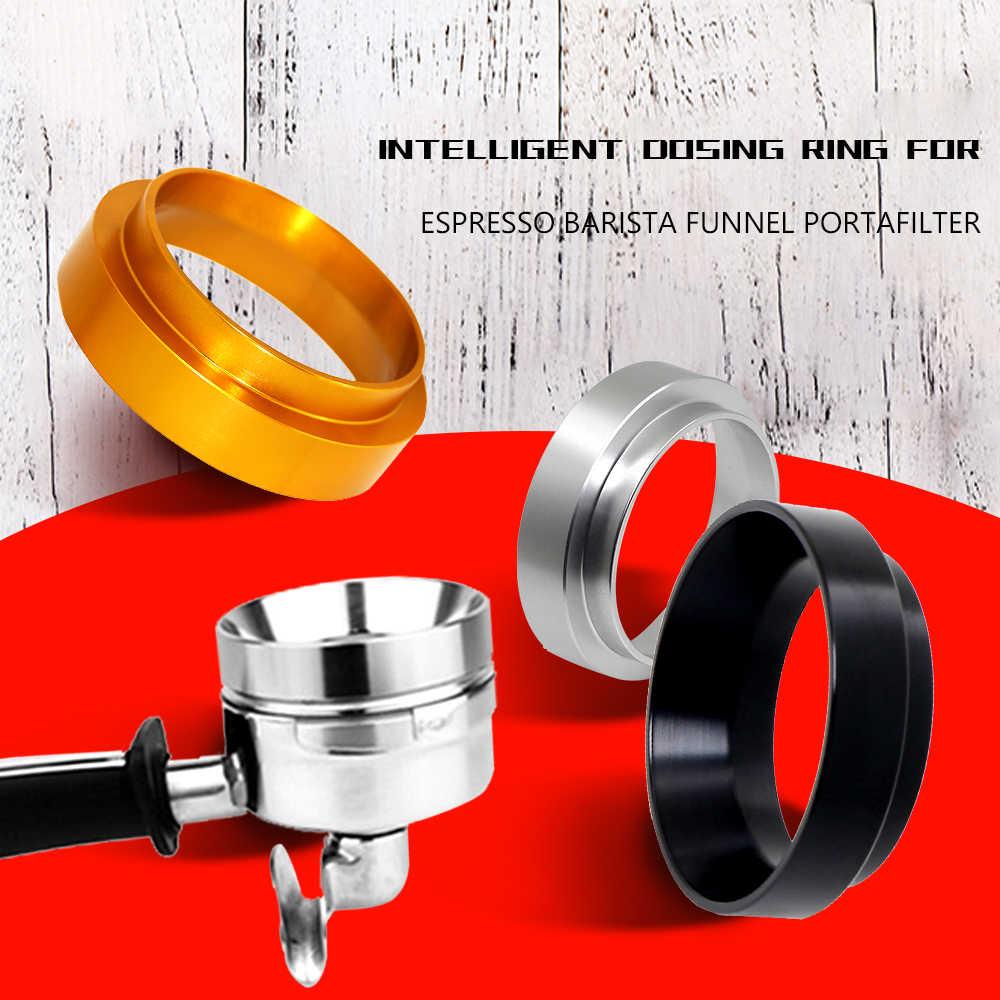 Espresso Coffee Dosing Ring Funnel Portafilter Dosing Aluminum Alloy Ring Funnel