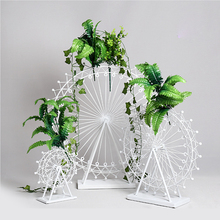 European Wrought Iron Ferris Wheel Romantic Wedding Fashion Props Home Party T Stage Decoration Road Lead DIY
