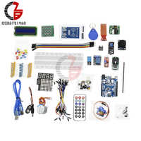 RFID Starter Kit Learning Suite SG90 Servo DC Motor Beadboard 1602 I2C LCD Sound Relay Clock Dot Matrix Board for Arduino UNO R3