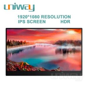 Image 4 - Uniway 13.3 inç taşınabilir monitör için c tipi hdmi bağlantı noktası dizüstü bilgisayar telefonu için xbox anahtarı ps3 ps4 oyun monitörü