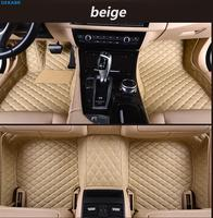 dekabr mat leather car floor mats for Ford F150 4 door 1990 2016 2017 2019 2020 Custom auto foot Pads automobile carpet cover