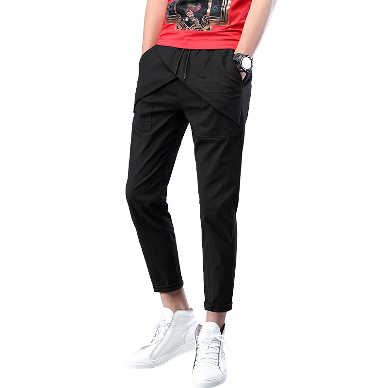 2018 New Style Men Casual Capri Pants Slim Fit Skinny Pants Men's Cotton Elastic Capri Men's Trousers Fashion 6686