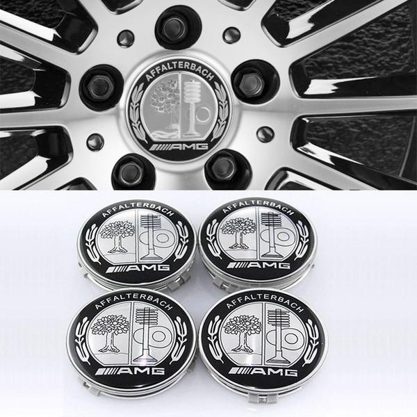 75mm AMG AFFALTERBACH Logo Emblem Badge Wheel Center Hub Caps For Mercedes Benz 4 Pcs/Lot