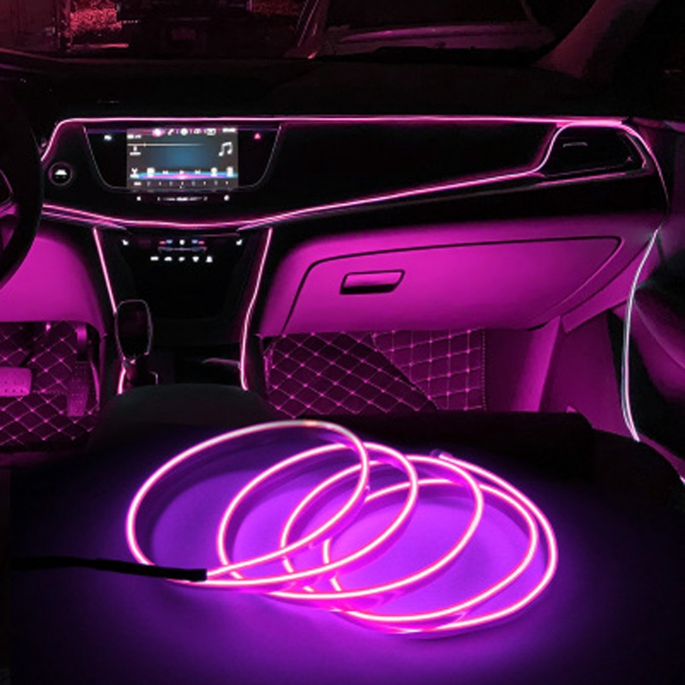 Neon Light Strips Flexible Rope Tube Waterproof Strip Line Sewing Edge EL Wire LED Strip Decoration On Car Strips Lamps LW011