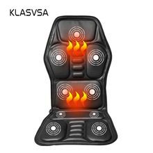 KLASVSA Heating Neck Massage Chair For Back Seat Topper Car Home Office Massager Vibrate Cushion Back Neck Relaxation