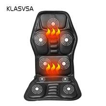 KLASVSA chaise chauffante de Massage du cou, pour siège arrière et voiture, masseur à domicile et au bureau, coussin vibrant pour Relaxation du cou