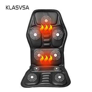 Image 1 - Klasvsa発熱ネックマッサージチェアバックシートトッパー車ホームオフィスマッサージ振動クッションバックネックリラクゼーション