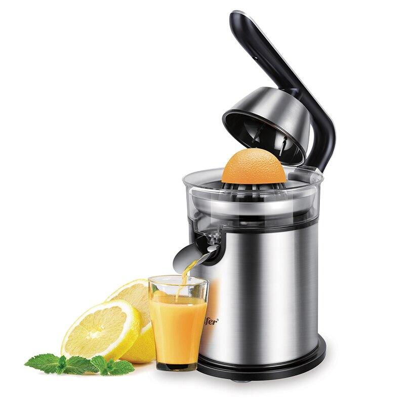H8c5bd4bf1e494727bf6f4b3eb1e3a1596 300W Lemon Citrus Juicer in Blender Stainless Steel Hand Pressed Household Electric Citrus Juicer Hand Orange Squeezer Sonifer