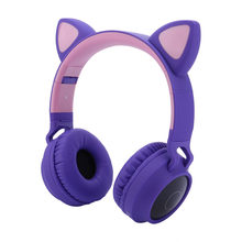 Wireless Headphones Bluetooth Earphone 5.0 Cat Ear Headphone Deep Bass Stereo Noise Reduction Gaming Headset For Mobile PC Z0401(China)