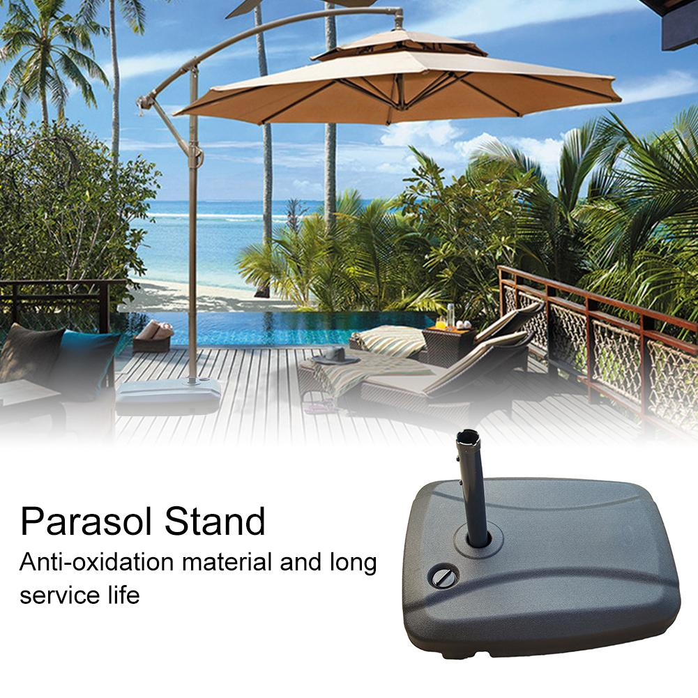 Garden Umbrella Base Outdoor Water Injection Parasol Stand Sunshade Anchor Patio Umbrella Stand Sun Shelter Accessory Water Fill