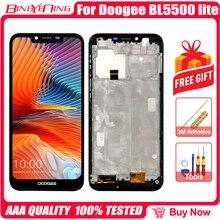 100% yeni orijinal Doogee BL5500 Lite LCD ve dokunmatik ekran Digitizer çerçeve ile ekran modülü aksesuarları değiştirme