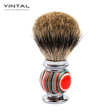 YINTAL Badger Hair Shaving Brush Zinc alloy + resin Candy Colors Men Accessories Colorful