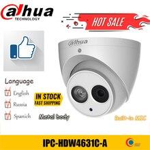 Dahua IPC HDW4631C A 6MP POE H.265 כיפת IP מצלמה מיקרופון מובנה IPC HDW4433C A 4MP IR אבטחת cctv כיפת מצלמה PFB203W PFB204W