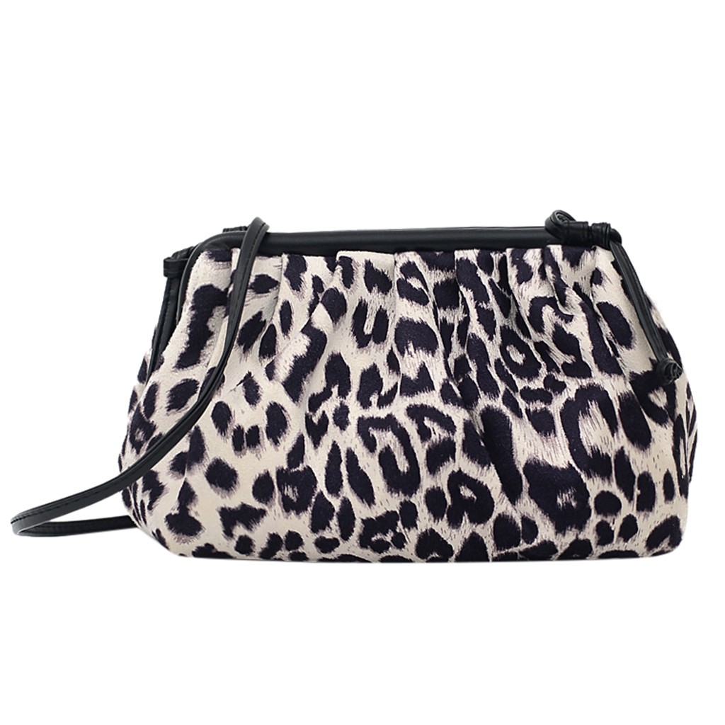 Fashion Women's Bag Outdoor Solid Color Ulti-Function Leopard Shoulder Bag Personality Crossbody Bag Small Women Handbags  1206