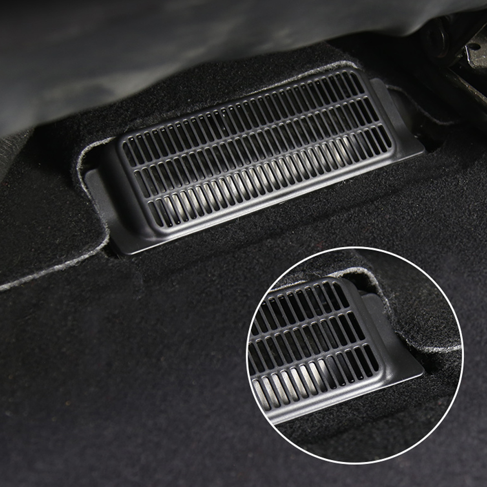 A Pair Car Air Outlet Cover Under Seat Anti-blocking Dustproof Back Air Vent Cover For Tesla Model 3 Accessories