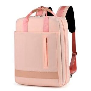 Image 1 - 2019 frauen USB Ladung Laptop Rucksack Tasche 15 15,6 zoll Notebook PC Tablet Rucksack Daypack für Macbook Dell HP HUAWEI