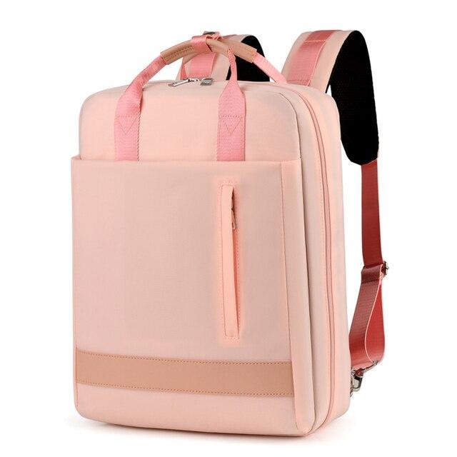 2019 kadın USB şarj Laptop sırt çantası 15 15.6 inç dizüstü PC Tablet sırt çantası sırt çantası Macbook Dell HP HUAWEI