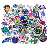 50 caricaturas de grafiti para su maleta, pegatinas de decoración impermeables para niños
