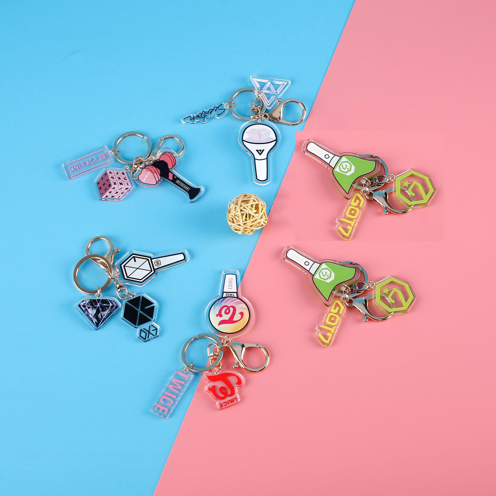 Kpop Korean Band Blackpink Exo Twice Acrylic Pendent Key Ring
