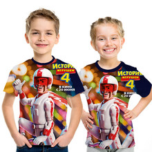 New Toy Story 4 2019 3D Cartoon Print Childrens T-Shirt Fashion Summer Short Sleeve T-Shir