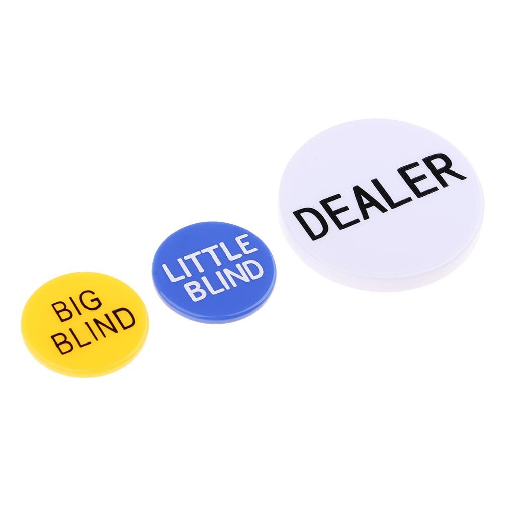 Профессиональный набор кнопок/маленьких/больших слепых чипов для Техасского холдма