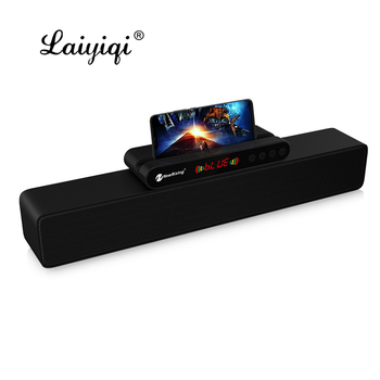 Laiyiqi LED display sound bar Bluetooth speaker dock home theater barra de sonido para tv soundbar 10W Radio FM bass Amplifier