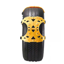 6 PCS Car Tendon Snow Chain Thickened Emergency Tire Chains TPU Material Cold Wear Resistant Anti-Skid