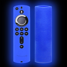Home Lattice Design Lightweight Soft Silicone Practical Remote Control Cover Anti Slip Durable Accessories For Fire TV Stick 4K(China)