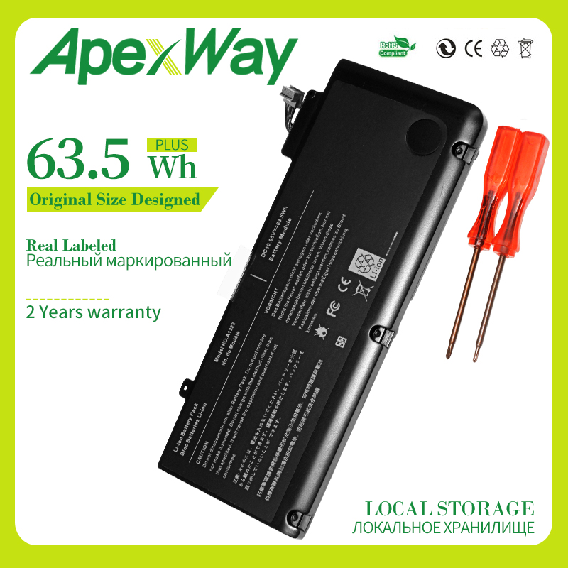 Apexway A1278 <font><b>Battery</b></font> for Apple <font><b>MacBook</b></font> <font><b>Pro</b></font> <font><b>13</b></font>